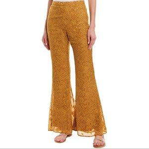 Sage the Label yellow polka dot flare Layla pants